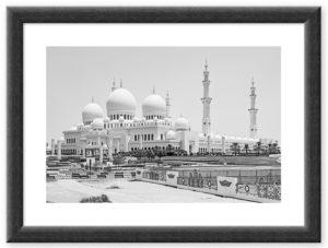 Sheikh Zayed Moschee (2016) BW Rahmen