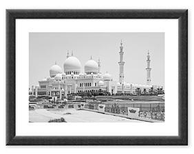 Sheikh Zayed Moschee (2016) BW Rahmen thumbnail